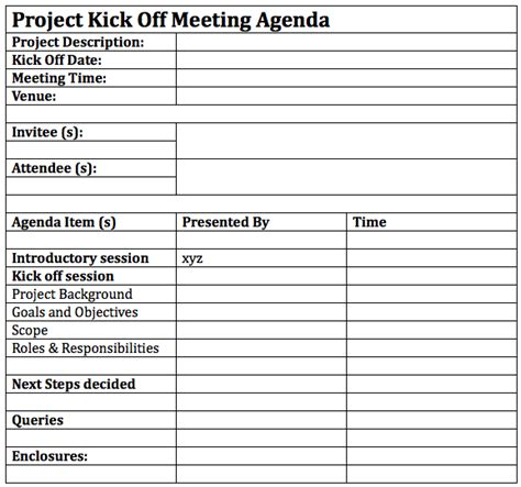 Kickoff meeting agenda template business templates png 578x541