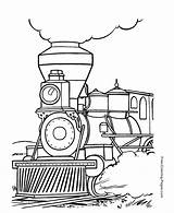 Coloring Pages Train Trains Printable sketch template