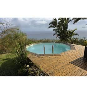 piscine hors sol ronde maeva 500 en bois finition haute