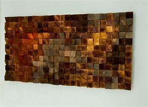 Wood wall Art, wood sculpture mosaic, geometric art – Art