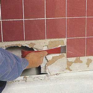 repairing bathroom tiles how to repair a water damaged shower wall tilersforums 14175
