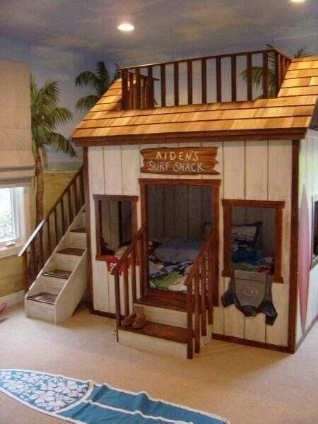 awesome bunk bed idea surf shack hot tub rec room