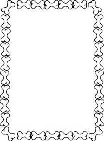 Dog Bone Border Clip Art
