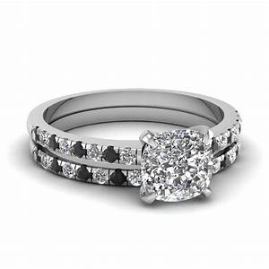 24 fantastic black and white diamond wedding ring sets for White diamond wedding ring