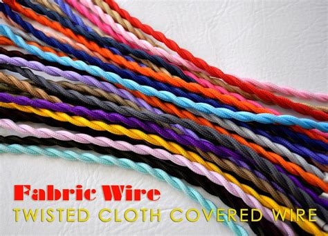 fabric covered l wire cloth covered wire 10 ft twisted l cord vintage