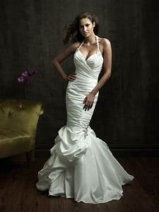 sexy mermaid wedding dresses halter beads working With ruched mermaid wedding dress