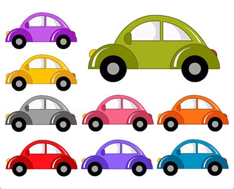 Cute Cars Digital Clip Art Funny Cars Clipart Instant