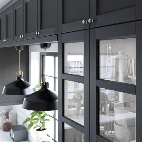 Gray Kitchen Cabinet Ideas - ikea lerhyttan kök pinterest kitchens cottage renovation and black kitchens