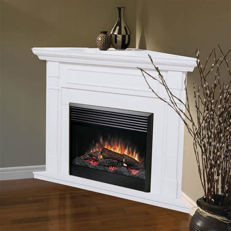 electric corner fireplace dimplex baxter corner electric fireplace white at hayneedle