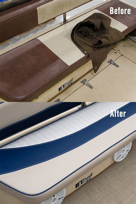 Boat Cushion Vinyl Bench Seat by How To Make A Powerboat Aft Bench Cushion Sailrite
