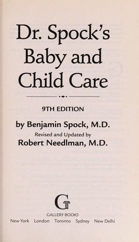 Dr Spocks Baby And Child Care Open Library