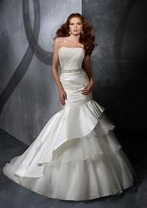 strapless beaded sash taffeta organza mermaid trumpet With trumpet mermaid wedding dress