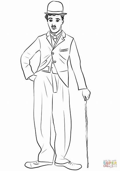Chaplin Charlie Colorear Dibujos Coloring Dibujo Imprimir