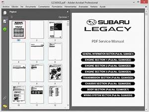 Subaru Legacy All Models  1995-2010  - Service Manual