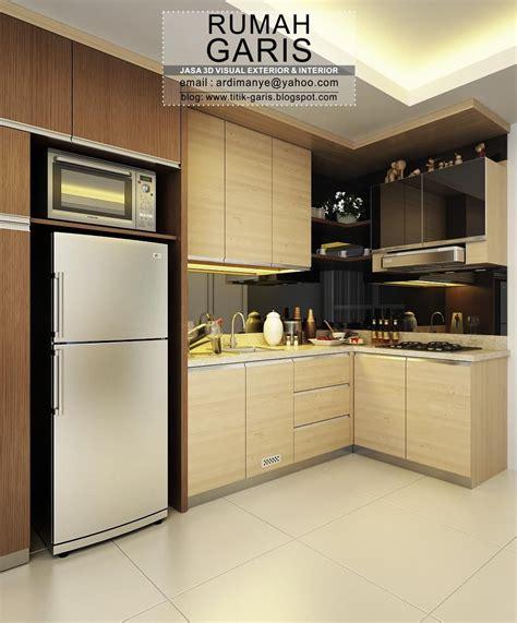 desain interior kitchen set letter  makassar desain