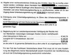 Rechnung Anwalt : fotos internet urheberrechtsverletzung ~ Themetempest.com Abrechnung