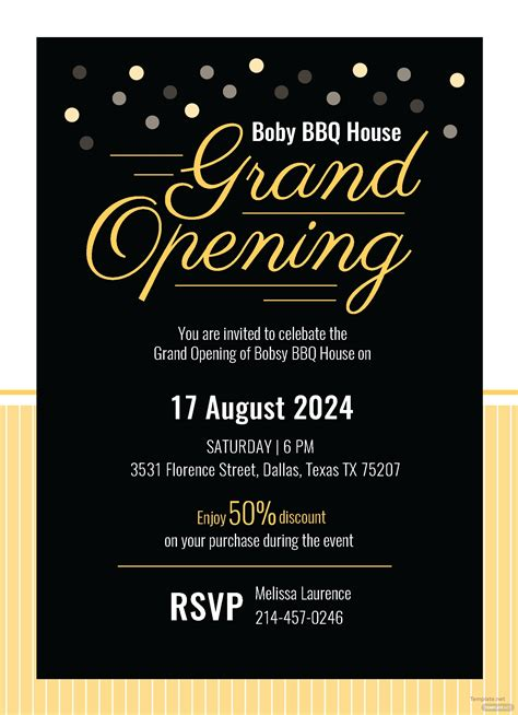 grand opening invitation card template  adobe