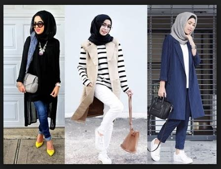 model fashion hijab anak muda style trend