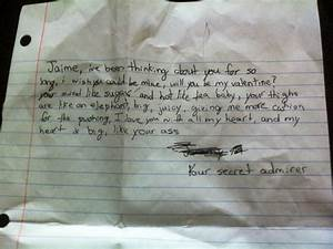 """11 Of The Funniest """"Secret Admirer"""" Notes Kids Have Given ..."""