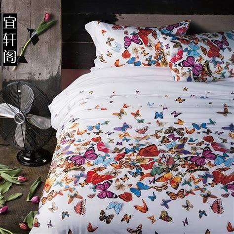3d butterfly bedding set queen size duvet cover bedspread