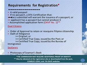 overseas absentee voting in the philippines by comelec With requirements for passport validity