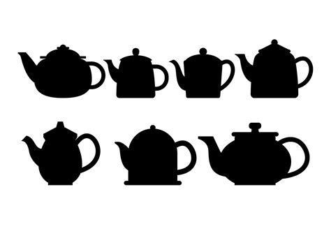 Teapot Silhouette Vector Set   Download Free Vector Art