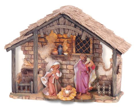 fontaninistore com 7 5 inch scale 3 piece lighted nativity