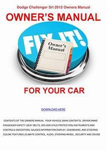 Dodge Challenger Srt 2012 Owners Manual By Karenguthrie