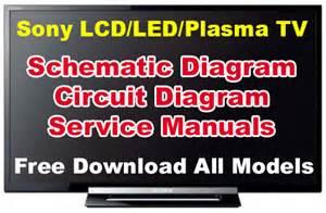 Sony Lcd  Led  Plasma Tv Schematic Diagram  Circuit  Service