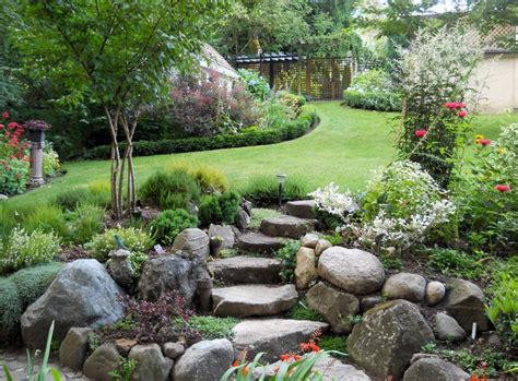 ideas for gardens on a slope rockery slope steps ponds and water features pinterest gardens flats and on the side