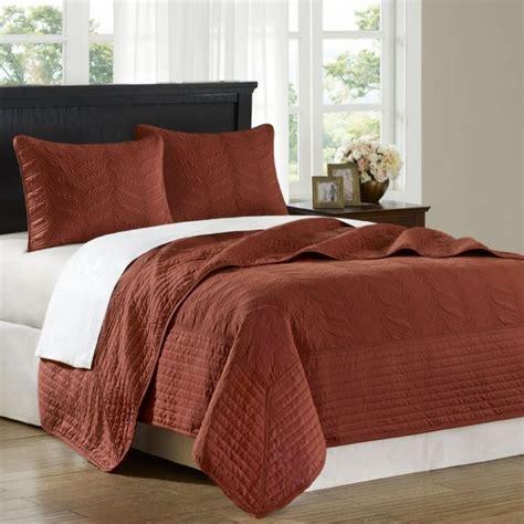 white bed comforters hton hill opulence rust 3pcs coverlet set jla13 012