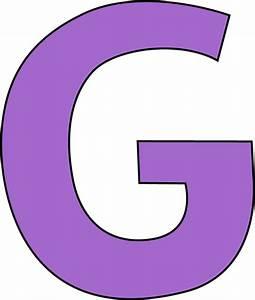 Purple Letter G Clip Art - Purple Letter G Image