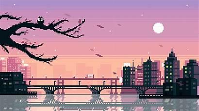 Pixel Background Anime Computer Aesthetic Desktop Wallpapers