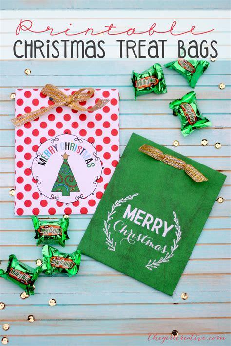 printable christmas treat bags i heart nap time