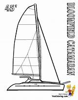 Coloring Catamaran Pages Boat Sailing Ship Boats Yescoloring Yacht Superb sketch template