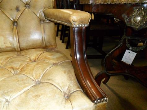 vintage tables for pair of mahogany library armchairs sku6876 6876