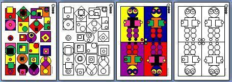 coloriage formes geometriques ms  blog