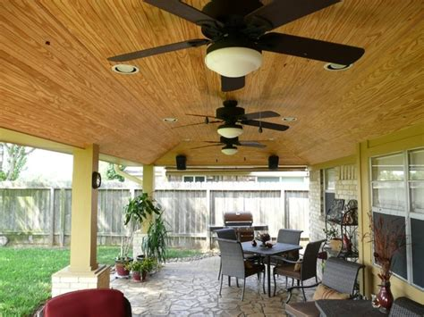 patio cover ceiling options rustic patio houston