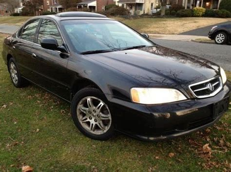 buy used 2001 acura 3 2 tl black black clean runs like new loaded w rear spoiler in