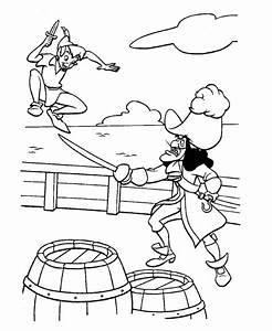 Peter Pan Fight With Captain Hook Coloring Page : Coloring Sky