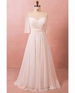 plus size bohemian chiffon beach wedding dress with With plus size chiffon wedding dresses