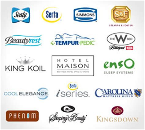mattress brand names mattress brands list pictures to pin on pinsdaddy
