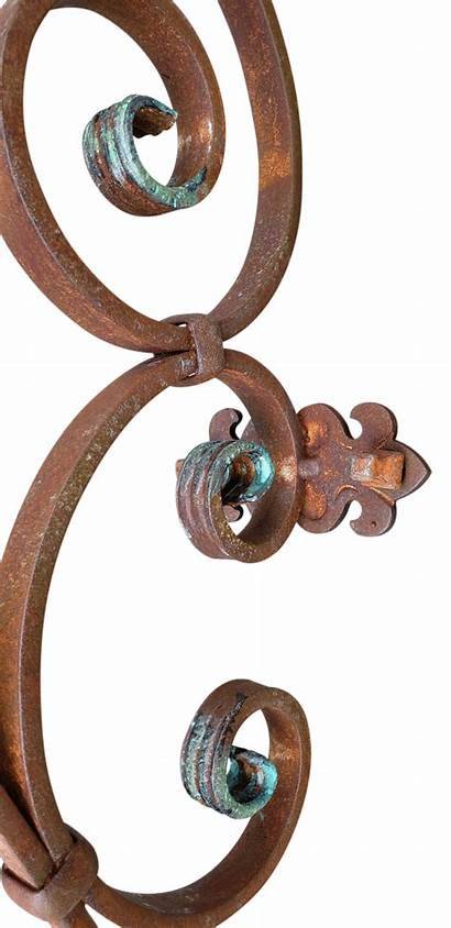 Candle Rustic Sconce Wall Iron Wrought Hanging