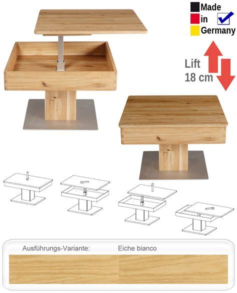 Uberraschend Couchtisch Eiche Bianco Design by Couchtisch Br 252 Gge 67x67x43 Cm H 246 Henverstellbar Eiche