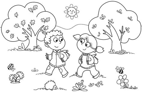 Coloring Page For Kindergarten Bee Coloring Pages Easy