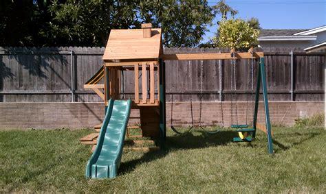 Home Playground : Backyard Playset Plans Design