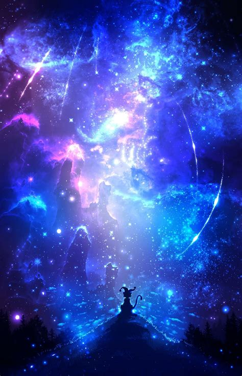 starlight anime anime art anime galaxy fantasy art