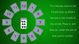 clock solitaire how to play clock solitaire youtube
