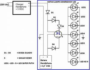 Aneka Info Teknik  Membuat Lampu Emergency Led