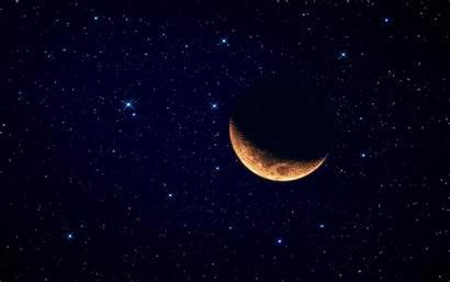 Starry Moon Sky Wallpapers Crescent Night Desktop